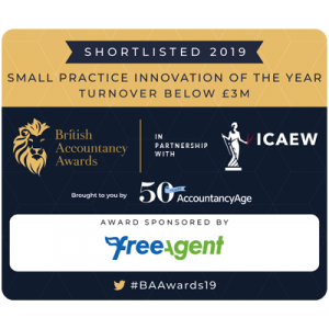 British Accountancy Awards 2019 Shortlisted